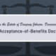 In the Estate of Dempsey Johnson, Deceased: The Acceptance of Benefits Doctrine | Matthew Griffeth | Probate Litigation | Farrow-Gillespie Heath Witter LLP